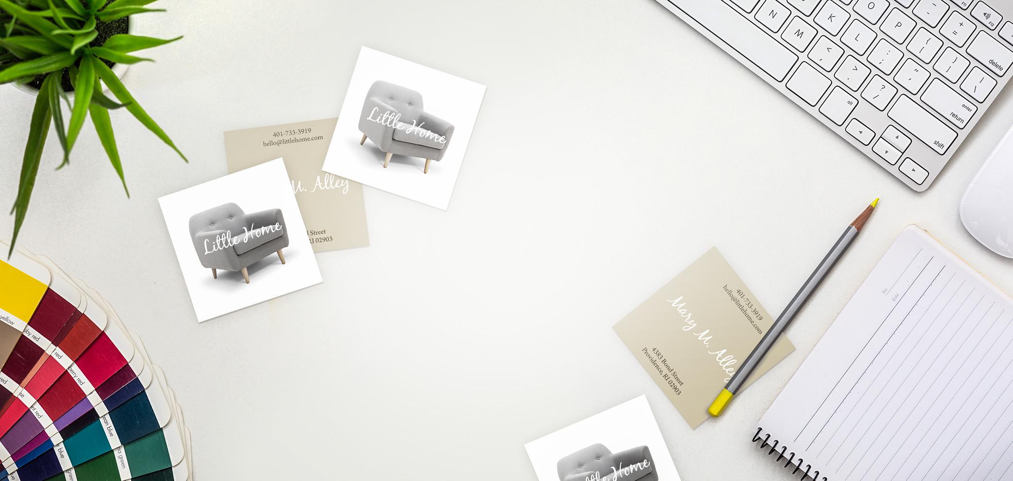 Visitenkarten Quadratisch