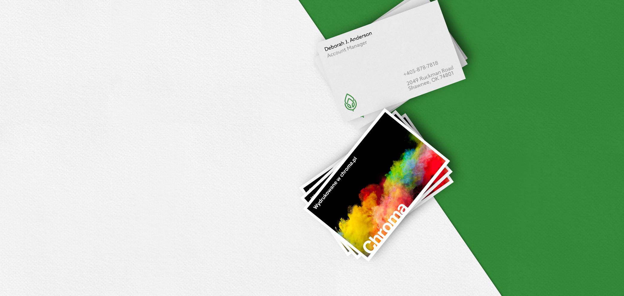 Visitenkarten Mit Chroma Werbung