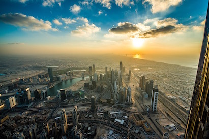 Sunset and Sunrise Burj Khalifa