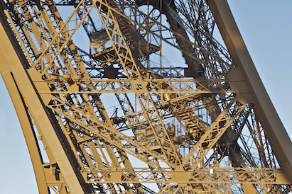 The stairs at the Eiffel Tower