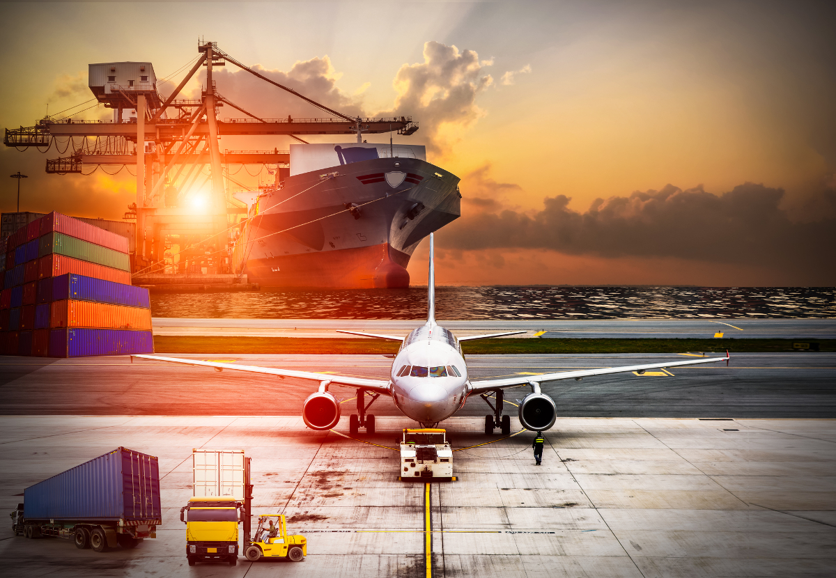 Air freight cargo shipping delivery
