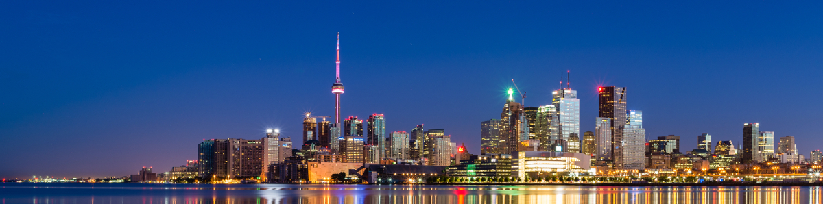 Toronto cityscape skyline at night