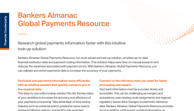 Bankers Almanac Global Payments Resource