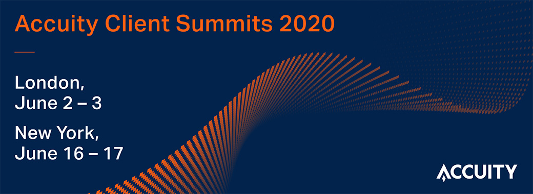 Accuity Client Summits 2020