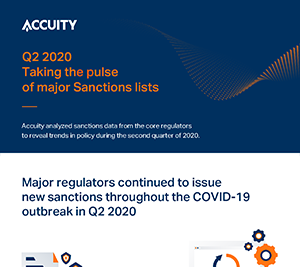 Q2 2020: Taking the pulse of major Sanctions lists