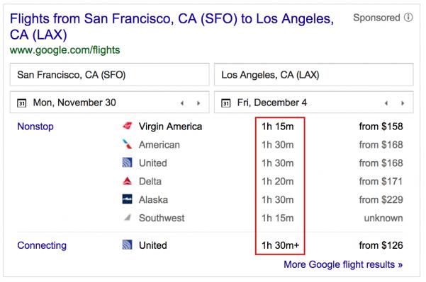 San Francisco (SFO) to Los Angeles (LAX)