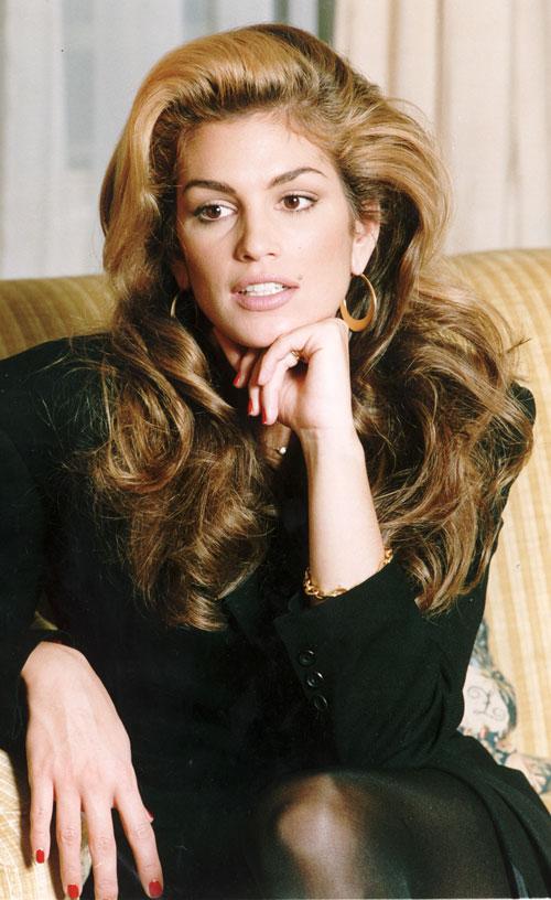 Stupendous Power Hair Cindy Crawford Celebrity Hair Hairstyles For Women Draintrainus