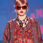 Anna Sui models with pink hair