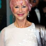 Helen Mirren with pastel pink hair