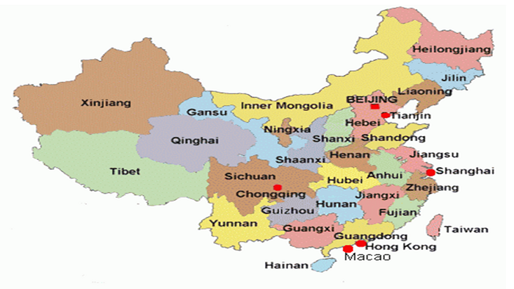 china provinces map images