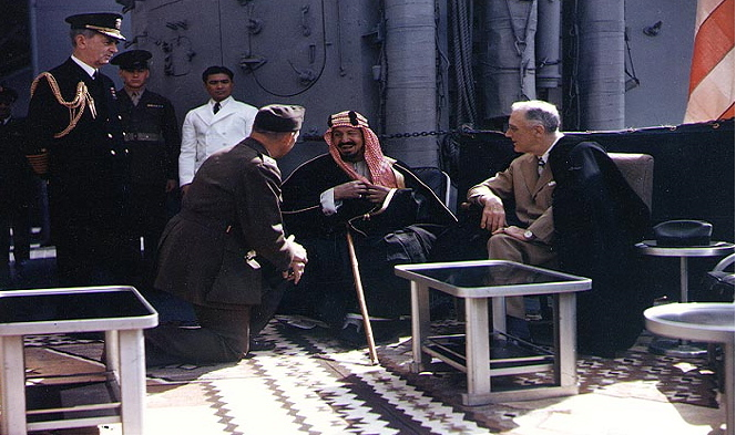 Saud, FDR