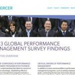 Mercer performance management survey 2013