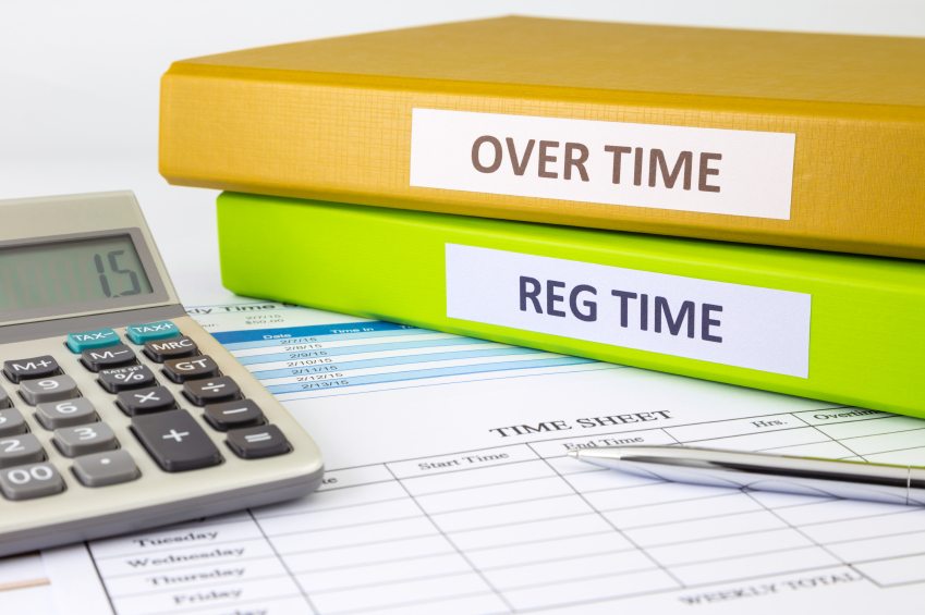 Daily time record with blank payroll time sheet