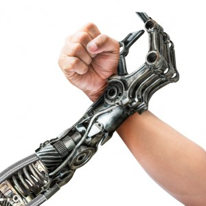 Human and robot arm wrestling