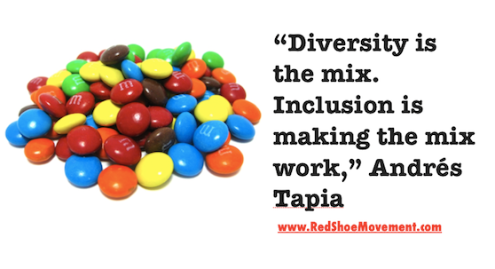 Diversity and inclusion m and ms and quote
