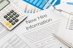 New hire information employment form