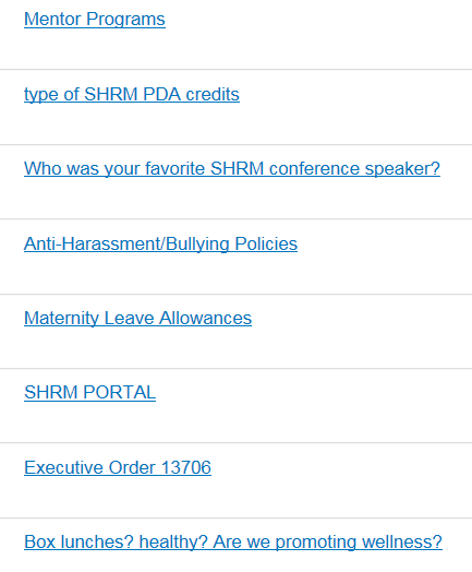 Discussion board snapshot