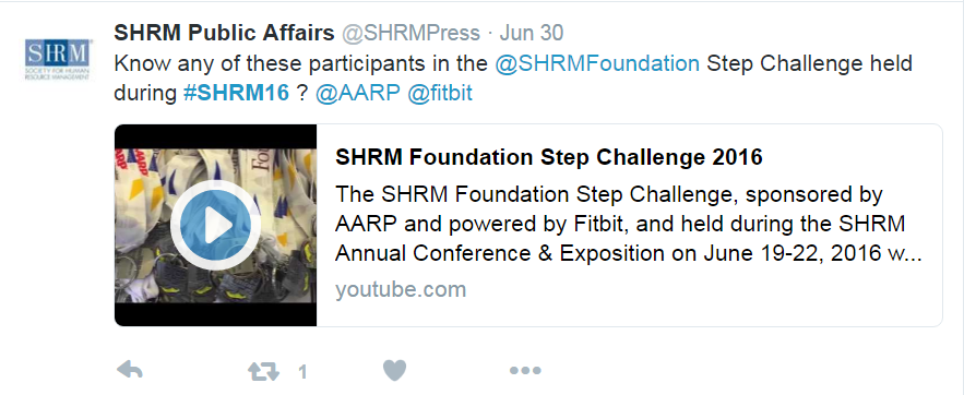 SHRM step challenge
