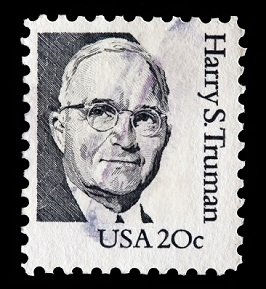 USA 20 cent stamp with Harry Truman