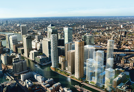 Aerial View Of City Of Birmingham Buildings