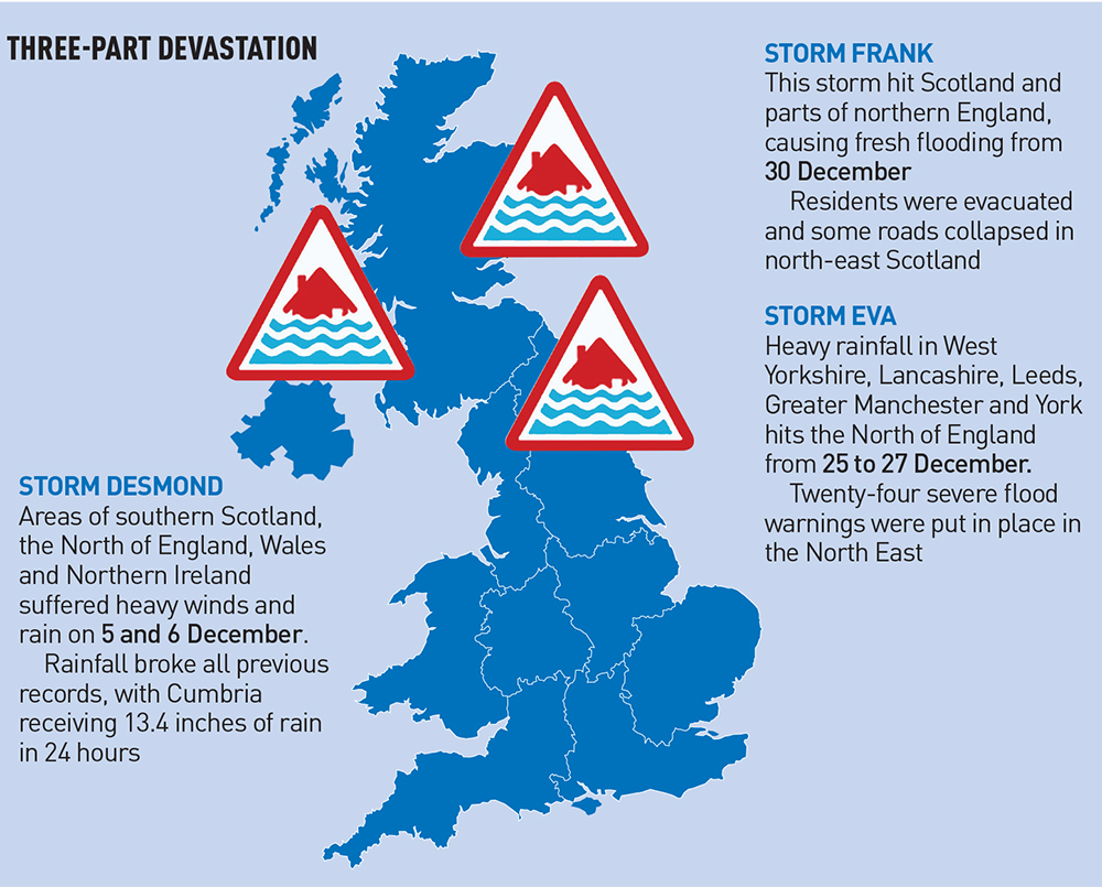 Flooding England Map.Counting The Cost Of A Flooded North