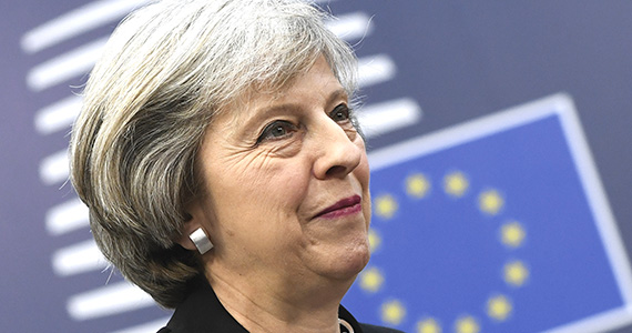 Mandatory Credit: Photo by Isopix/REX/Shutterstock (7567031av) Theresa May EU Summit, Brussels, Belgium - 15 Dec 2016