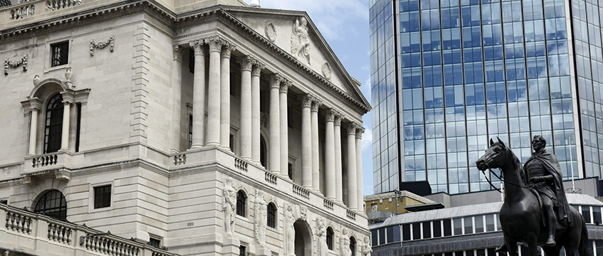 Quantitive easing by the Bank of England has eased the money supply