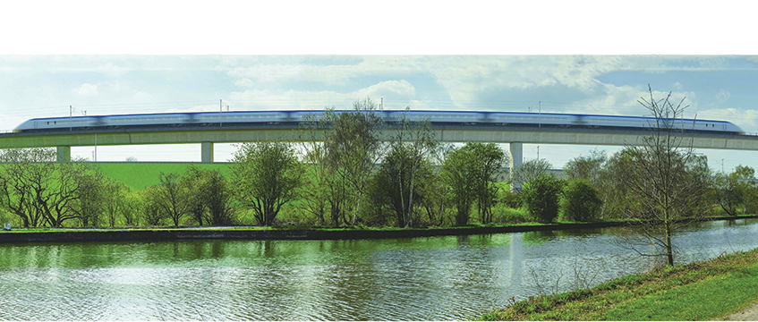 HS2 train and river