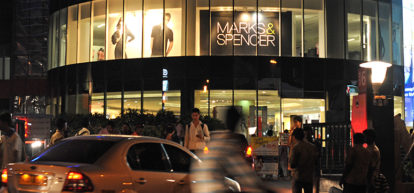 An M&S store in India