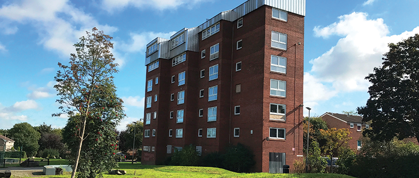 33-flat freehold unit, Leicester