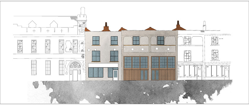 Drawing of the East Street Mews development