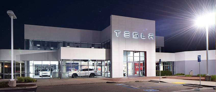 Image of Tesla's Dublin showroom