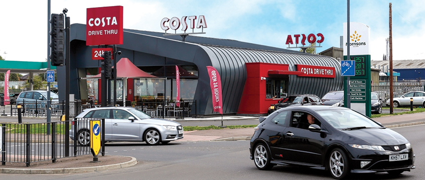 Costa drive-thru, Leamington Spa