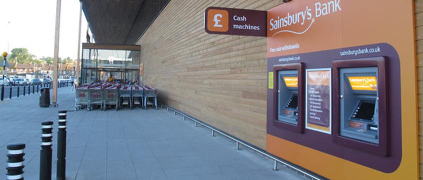 Sainsbury's cash machines