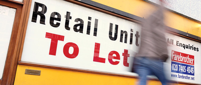 Retail unit to let sign