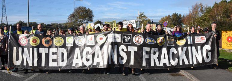 Fracking protest Preston New Road