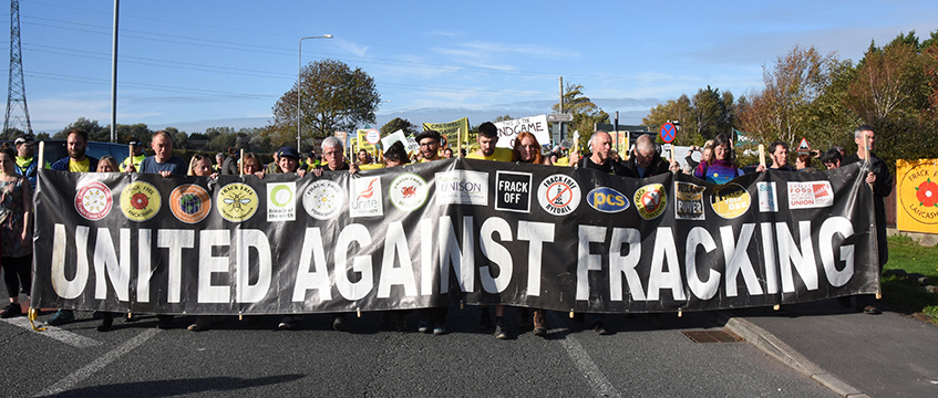 Fracking protest Preston New Road