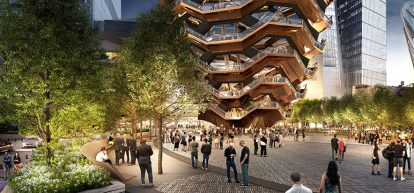 The Special Events Plaza at Hudson Yards