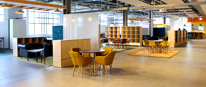 Co-working space at Marlands Shopping Centre, Southampton
