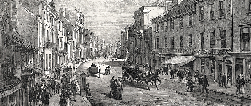 Doncaster, the High Street, 1891