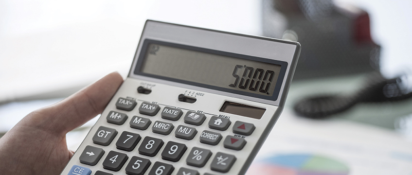 A calculator. Photo: Shutterstock