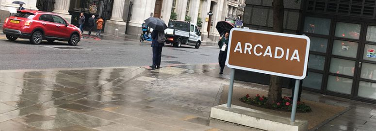 Arcadia sign Bishopsgate