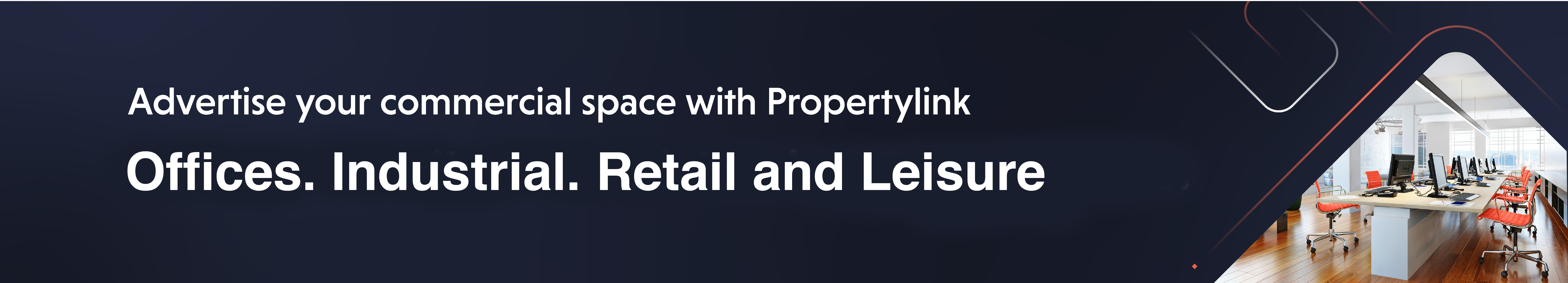 Advertise your commercial property with Propertylink
