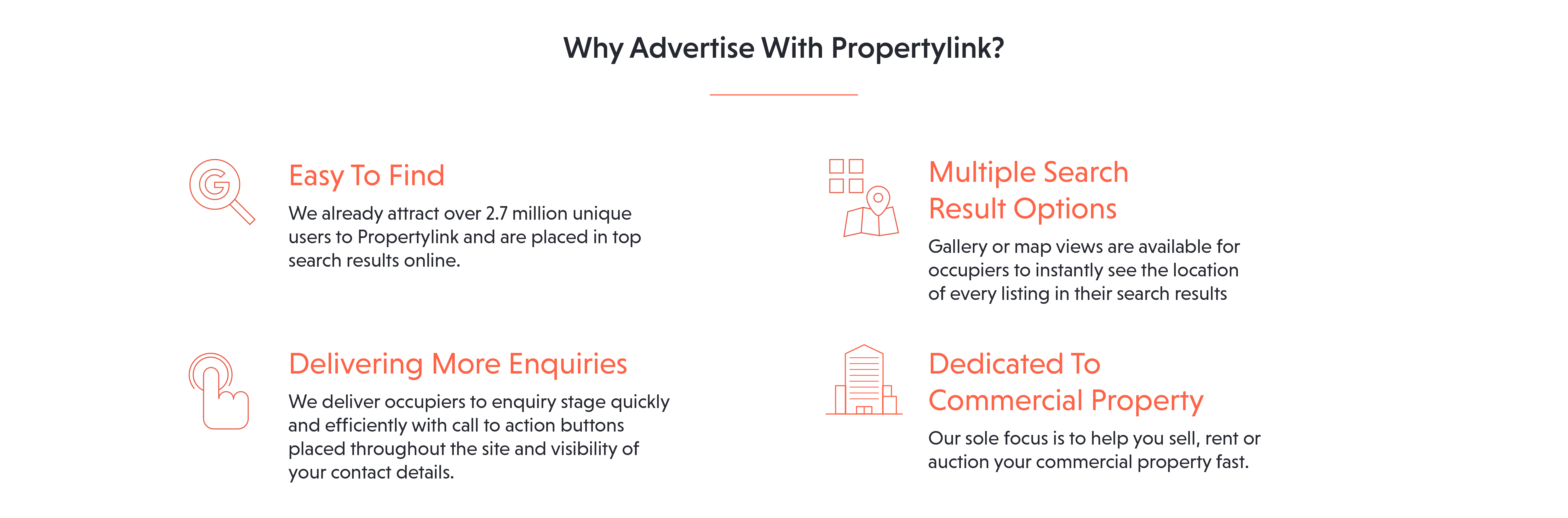 Main reasons to advertise your commercial property with Propertylink