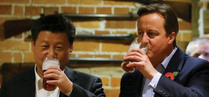 David Cameron and Li Ka-shing