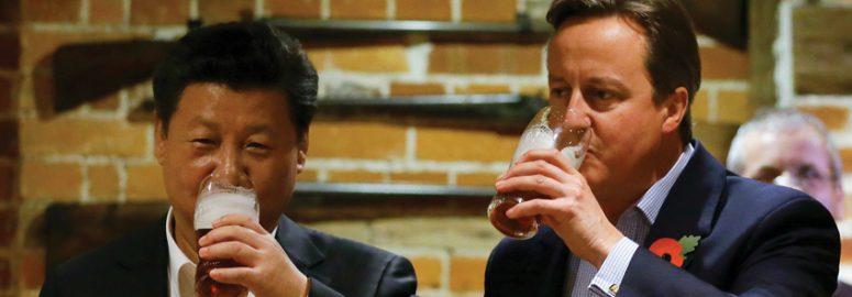 David Cameron and Li Ka-shing