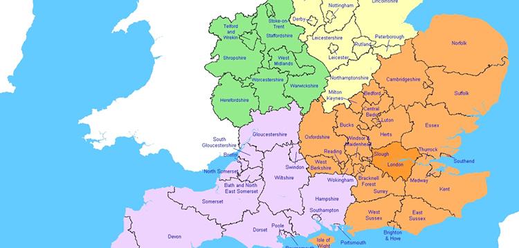 Αποτέλεσμα εικόνας για uk region map