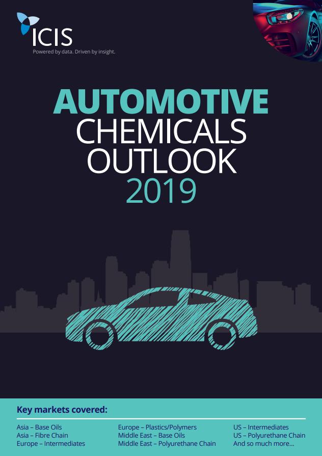 ICIS Automotive Chemicals Outlooks 2019 - ICIS Explore