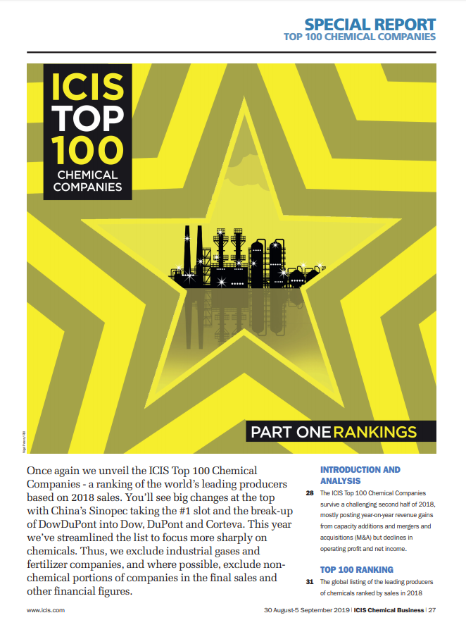 ICIS Top 100 Chemical Companies 2019 - ICIS Explore