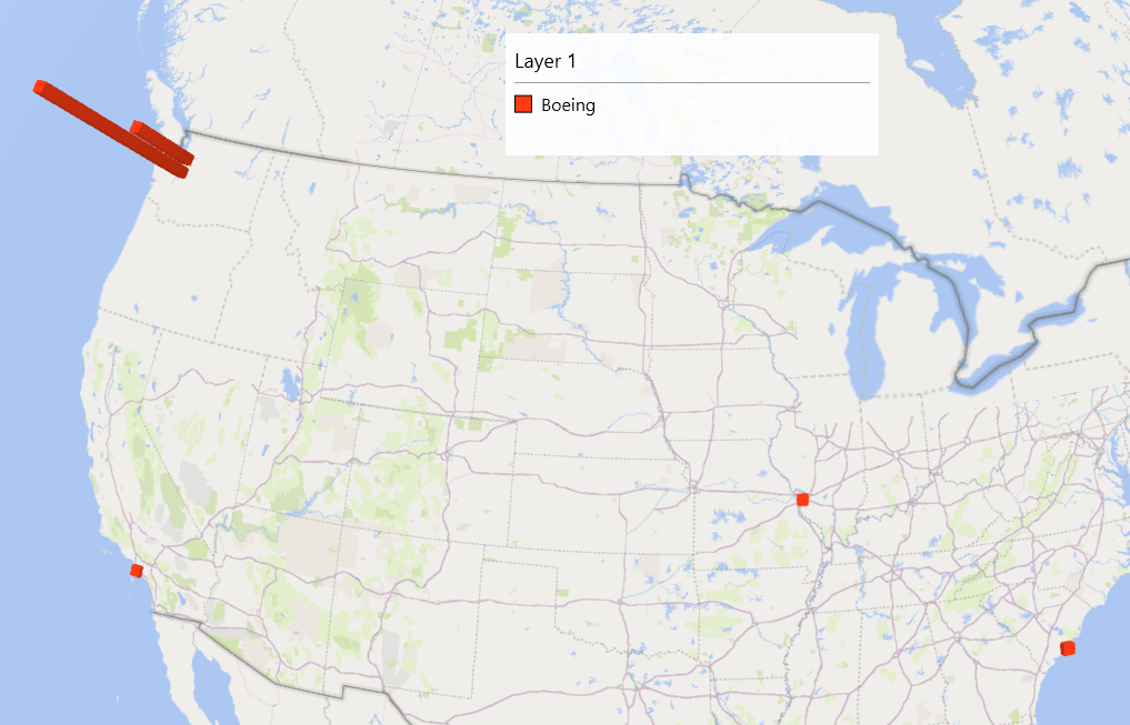 Figure 6. Boeing manufacturing locations.
